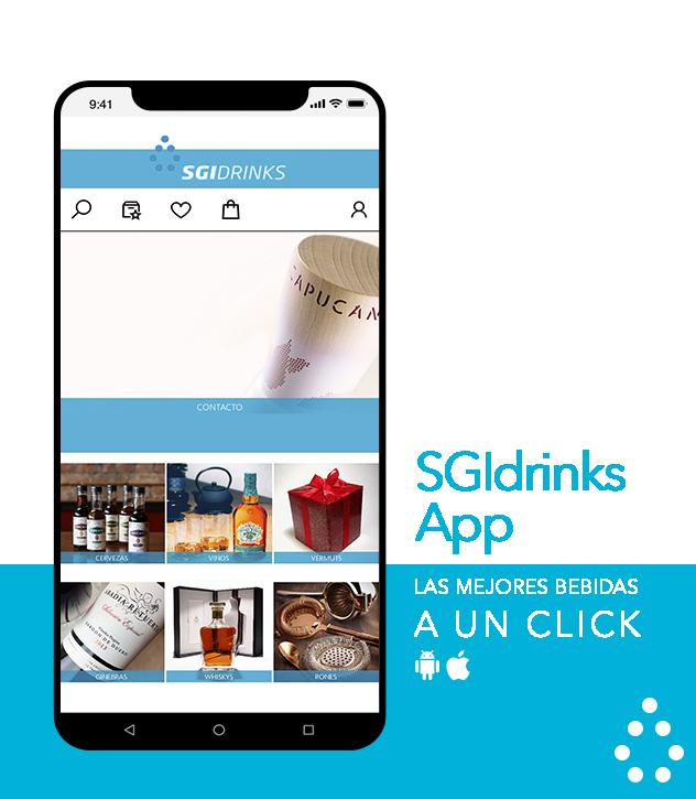 SGI Drinks App. Distribuidores de bebidas, distribuidor de vinos y bebidas espirituosas en Valencia y Castellón